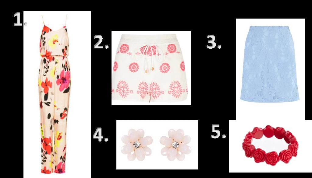 Topshop floral jumpsuit