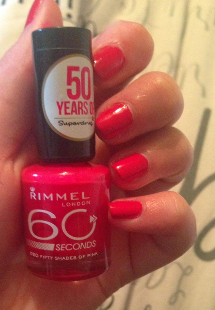 Rimmel 60 second nail polish 50 shades of pink